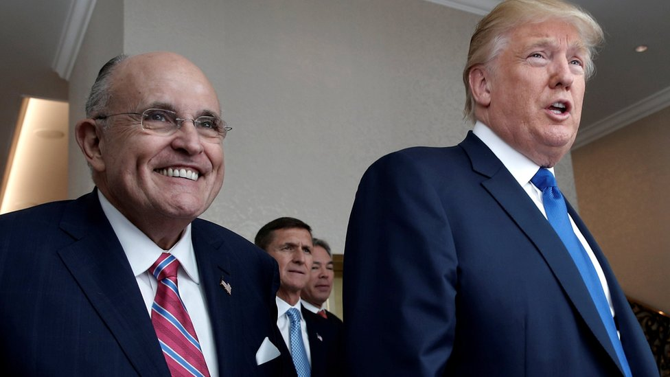 Rudy Giuliani y Donald Trump.