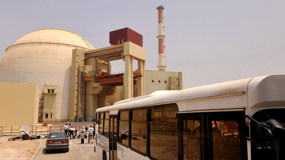 Nuclear reactor building at Russian-built Bushehr nuclear power plant on August 21, 2010