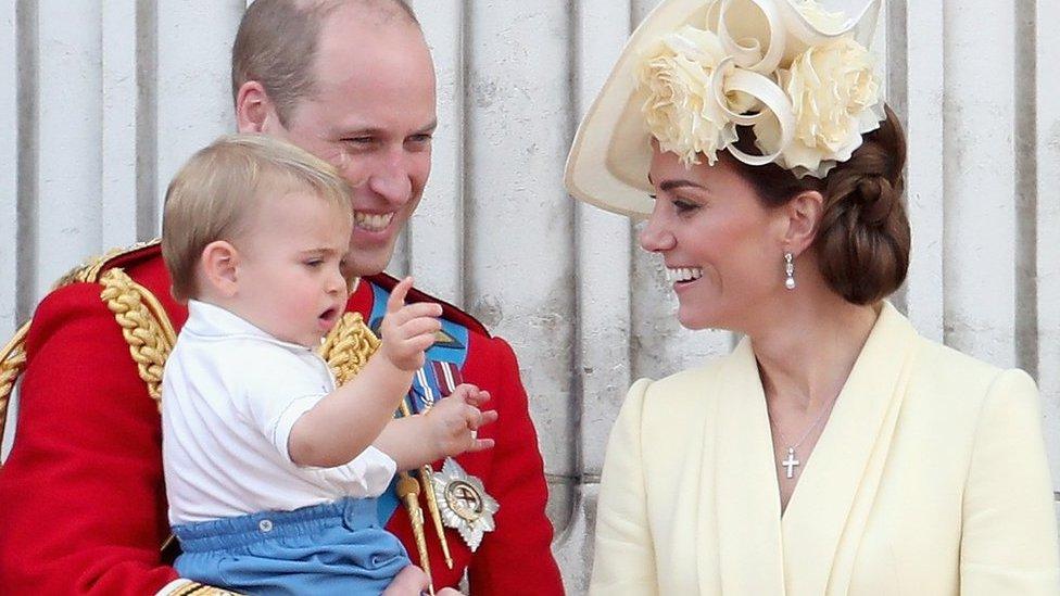 Duke of Cambridge, Duchess of Cambridge and Prince Louis