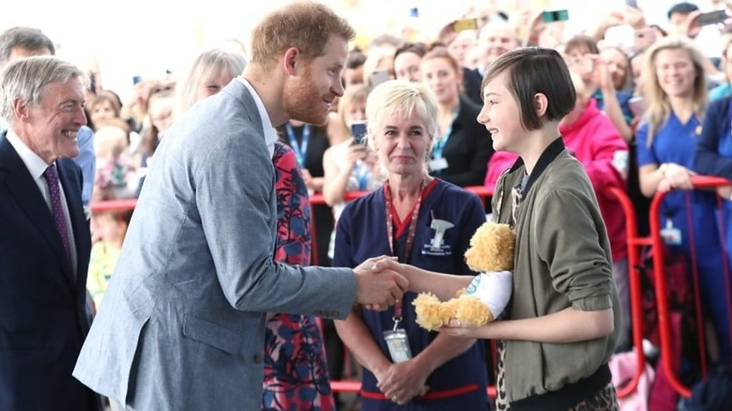 Prince Harry meets patients at Oxford Children's Hospital