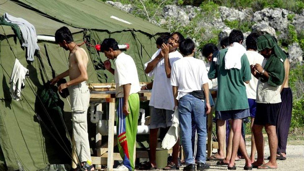 Refugee detention centre in Nauru