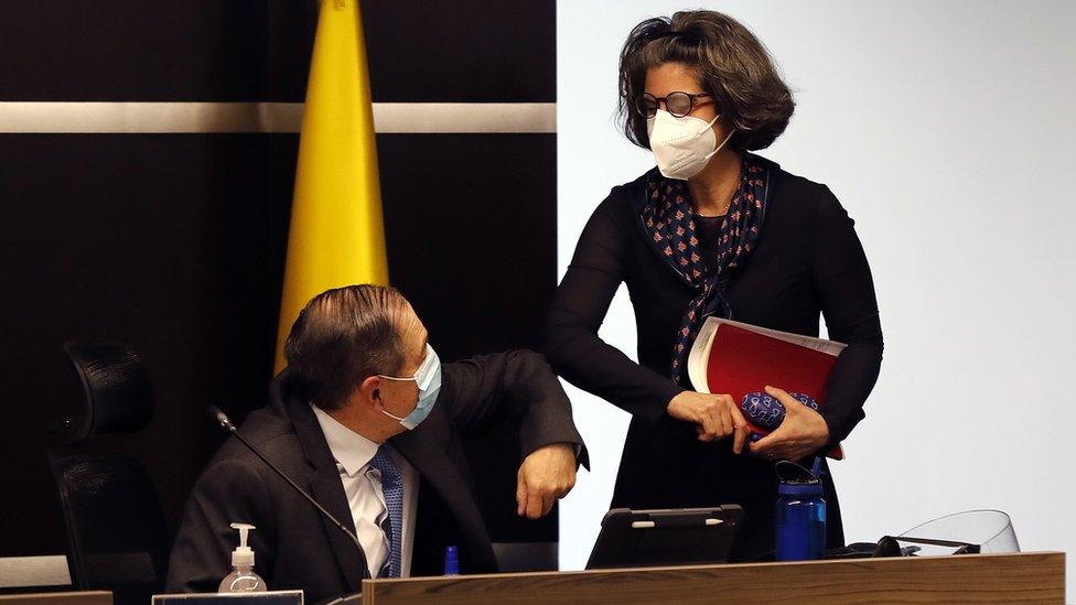 Eduardo Cifuentes y Julieta Lemaitre, magistrados de la JEP