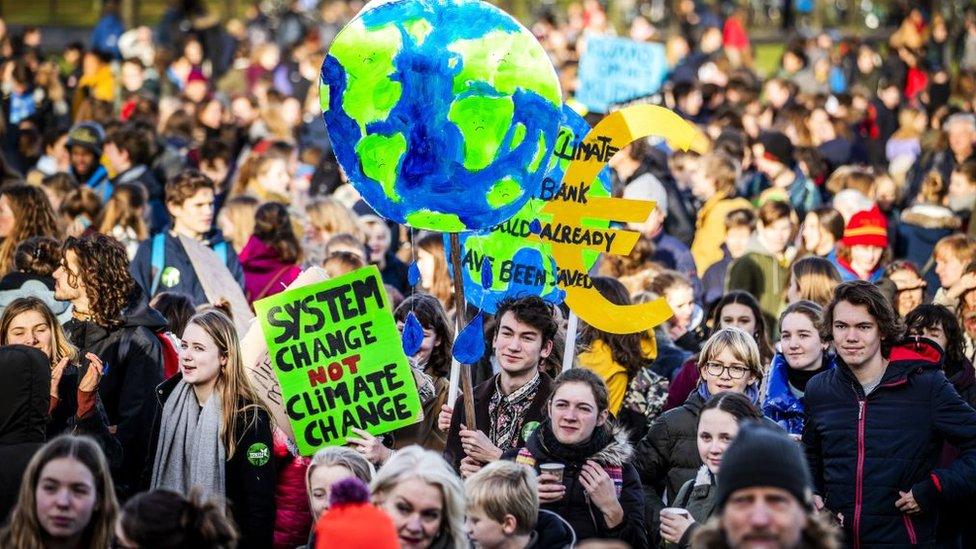 2019年2月,荷蘭氣候變化抗議運動