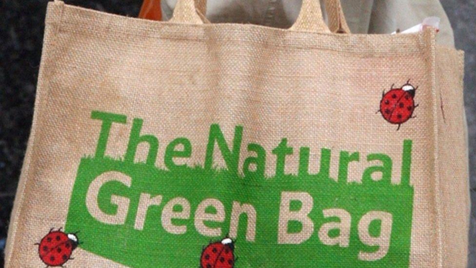 A 'natural green bag' from Tesco