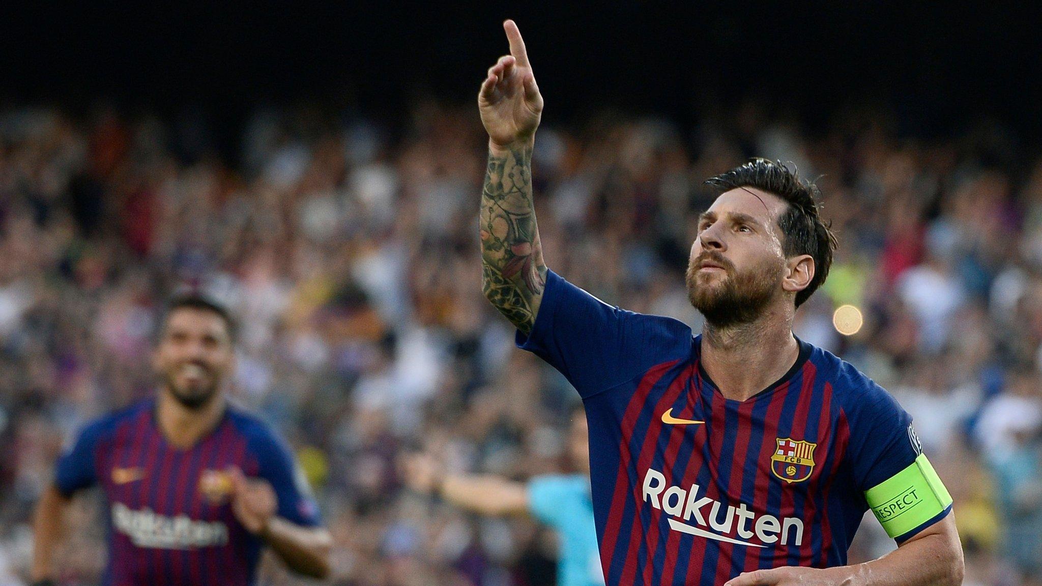 Barcelona 4-0 PSV Eindhoven: Lionel Messi scores hat-trick in Champions League win