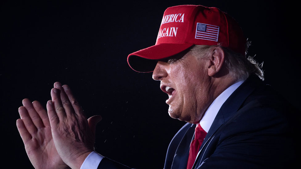 Trump en un acto de campaña.