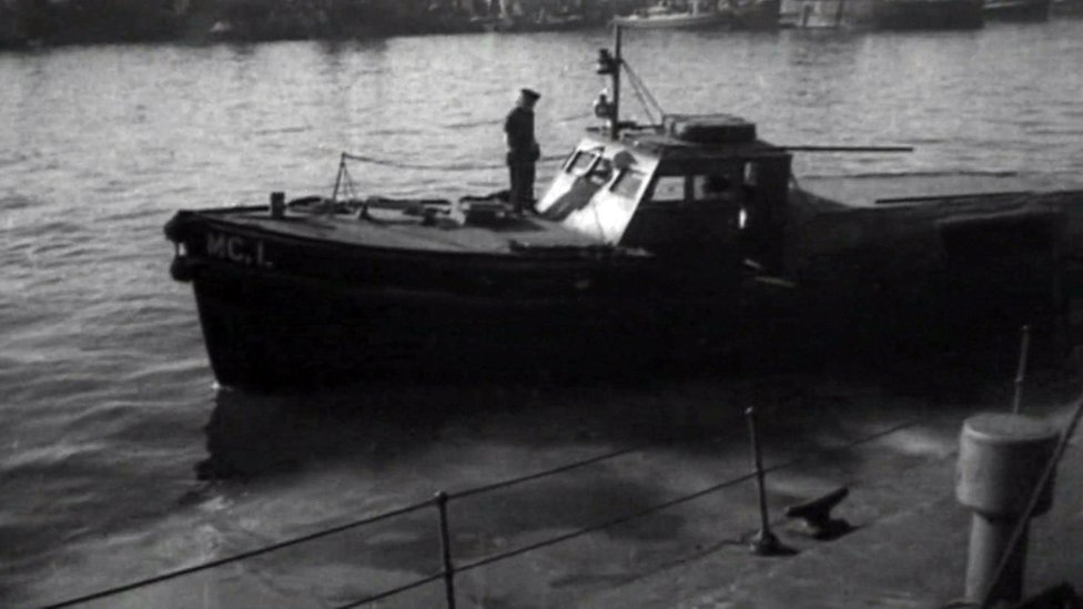 A boat similar to one of the boats that Mollie used during her time in the Women's Royal Naval Service
