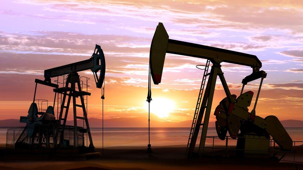 Campo petrolero.