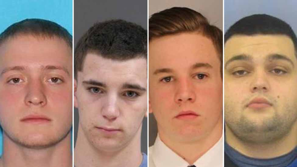 The missing men. From left: Tom Meo, Dean Finocchiaro, Jimi Patrick, Mark Sturgis
