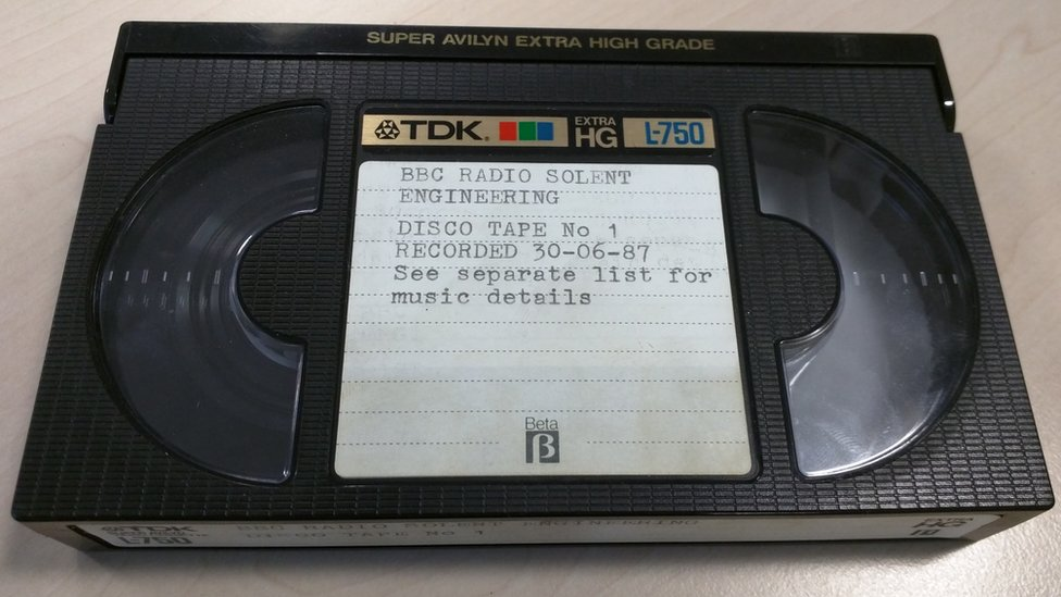 Betamax tape from the BBC archive