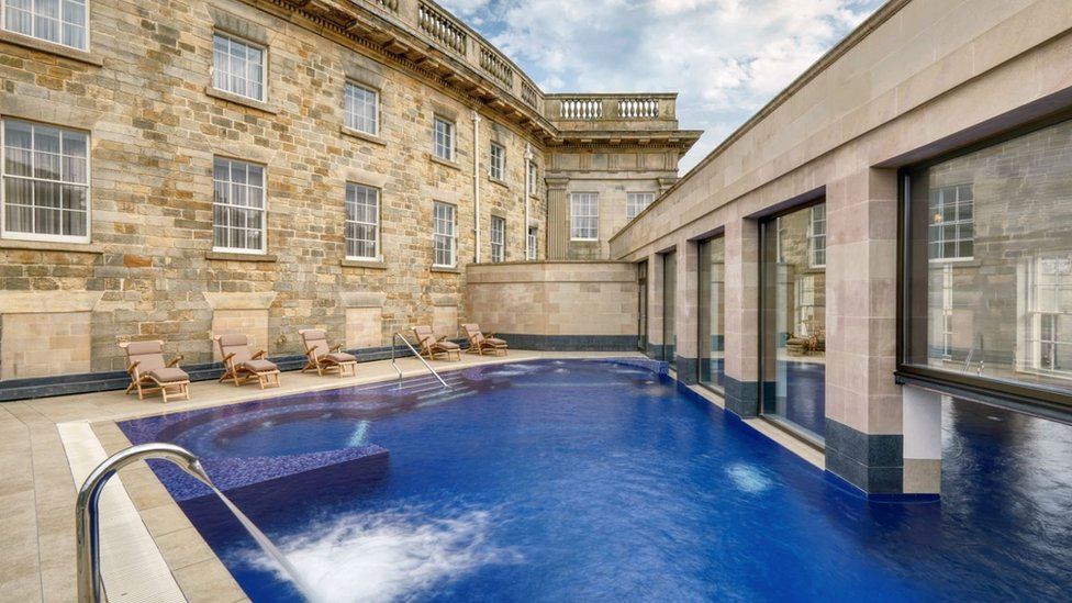Buxton Crescent hotel pool