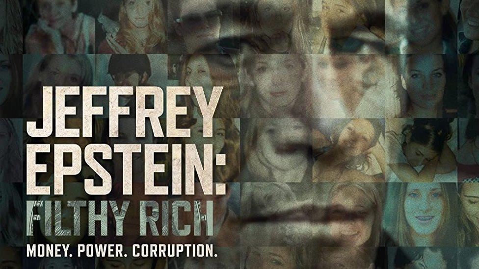 Cartel del documental sobre Jeffrey Epstein