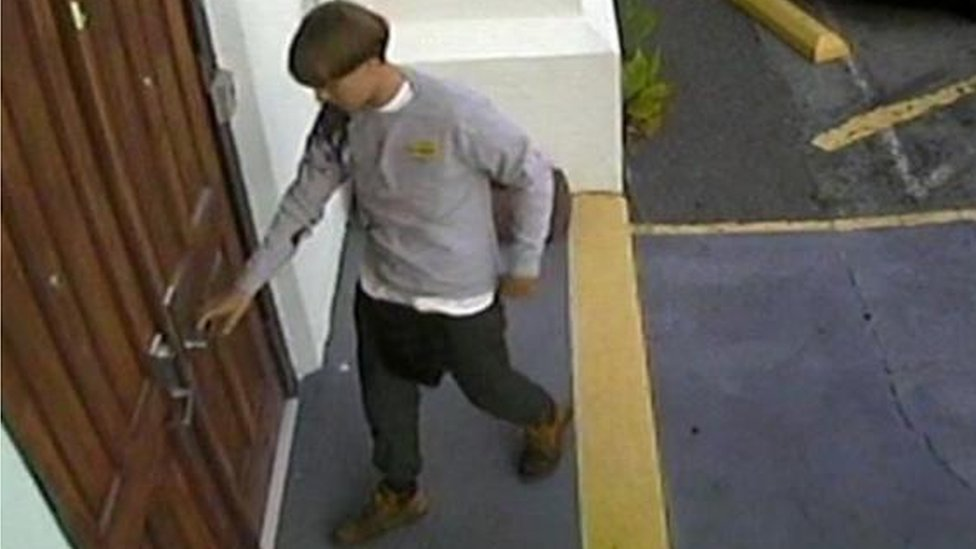CCTV of Dylann Roof at the Emanuel African Methodist Episcopal Church