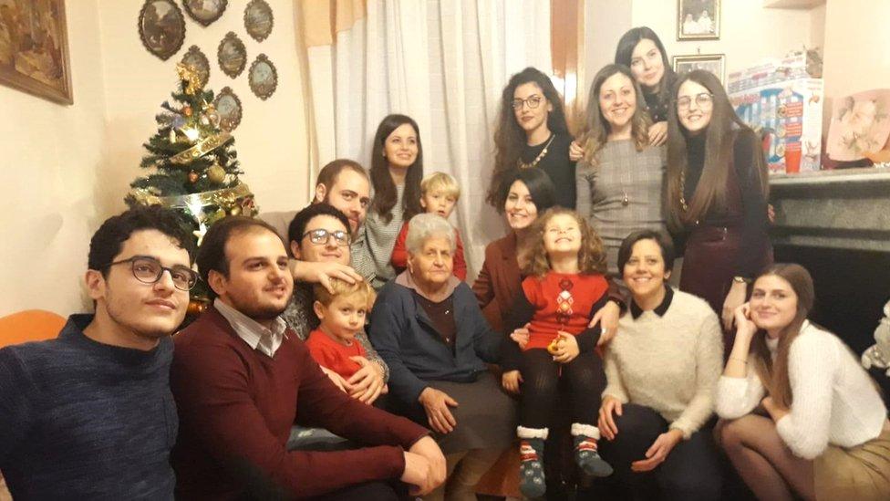 Image shows Nadia's family last Christmas