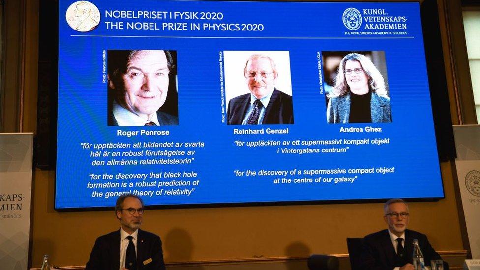 Anuncio del Nobel de Física.