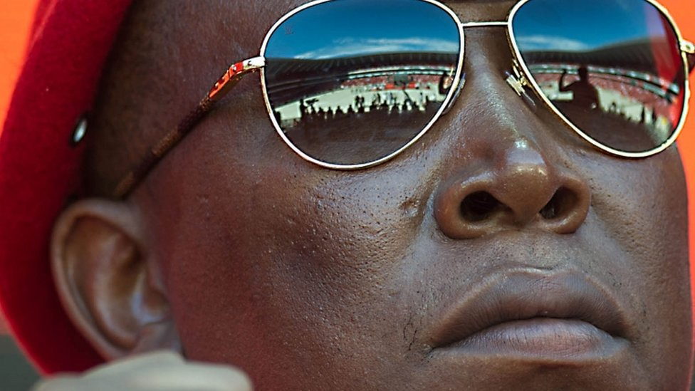 South African opposition radical party Economic Freedom Fighters leader Julius Malema