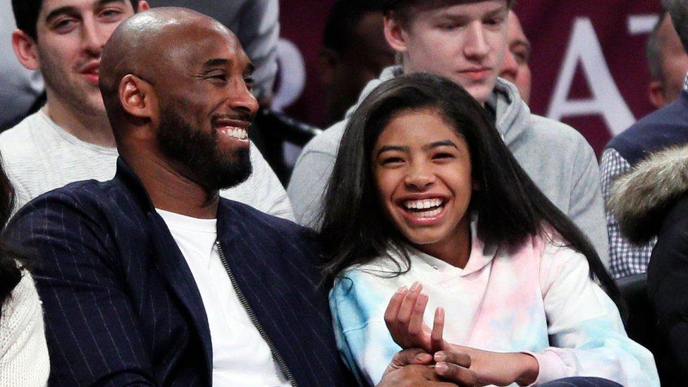 Kobi Brajant sa ćerkom Đianom