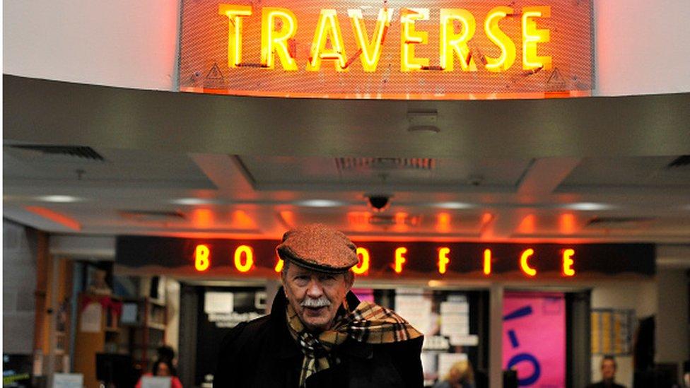 Jim Haynes en el teatro Traverse de Edimburgo.