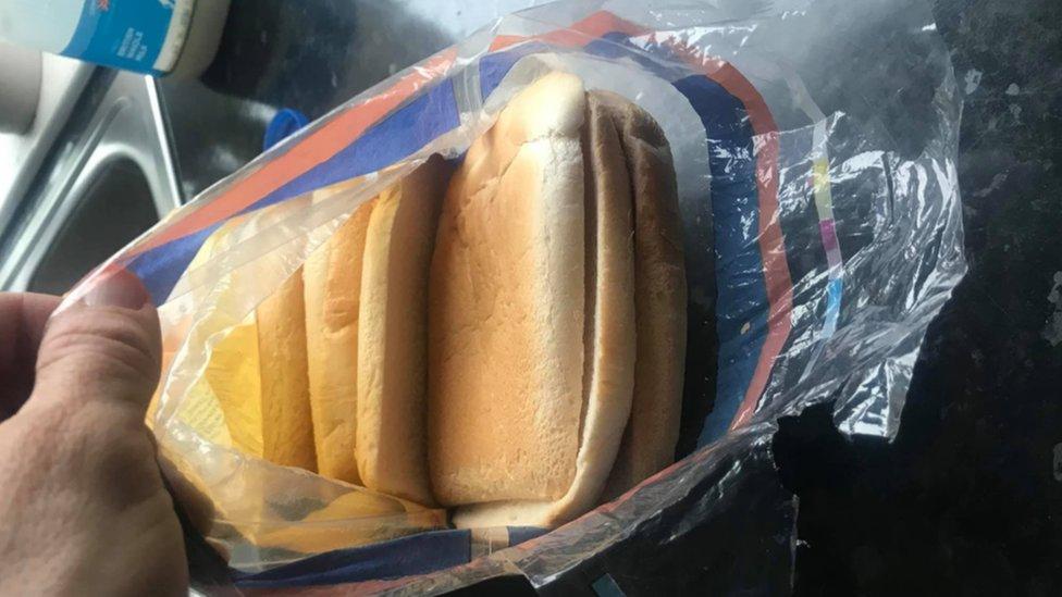 Kingsmill loaf full of crusts