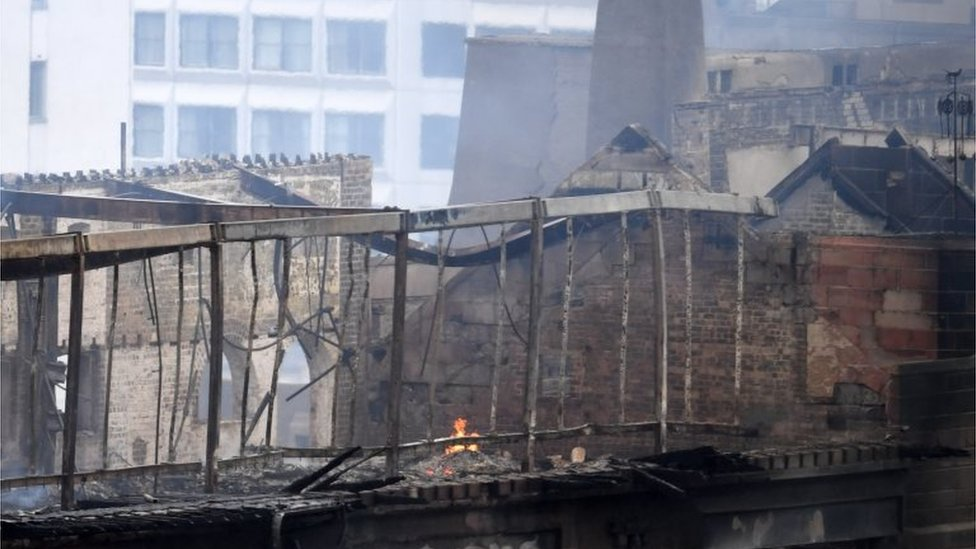 Glasgow fire: Building 'part of the fabric of the city'
