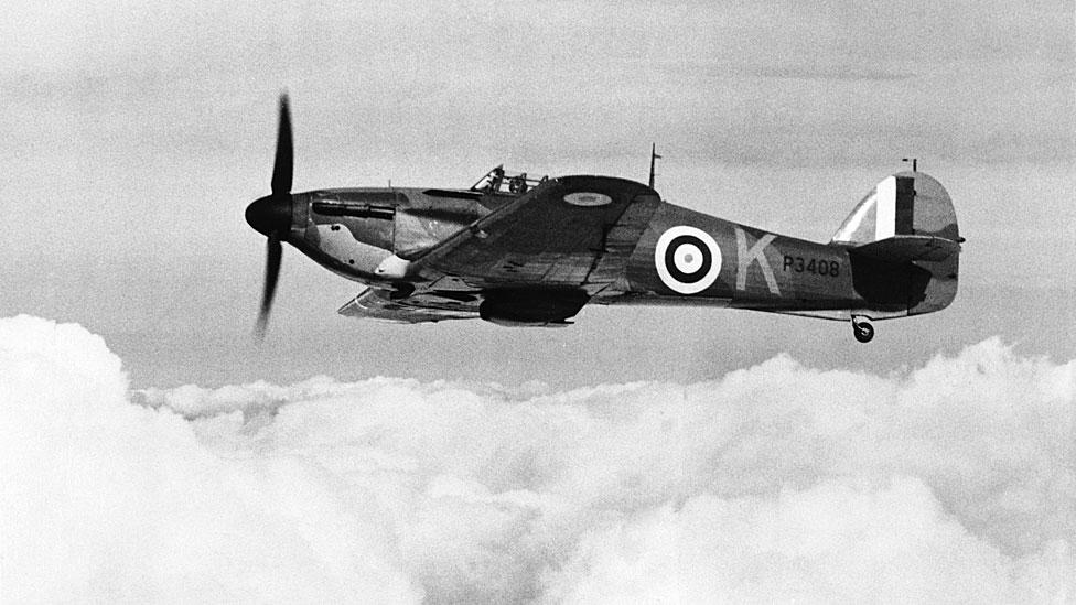 Avión caza Hurricane