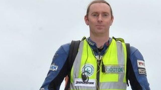Dr John Hinds died after an accident at the Skerries 100 in July