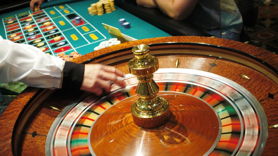 casino shot of roulette table