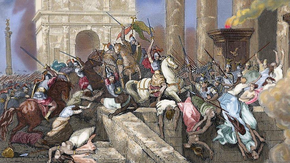 Saqueo de Roma a cargo de Alarico.