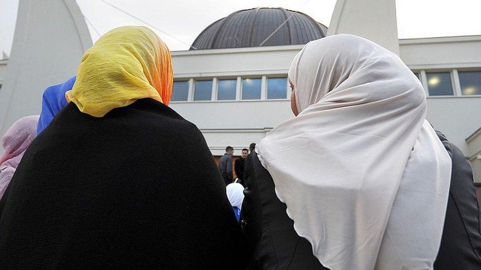 Muslim women in Strasbourg, Sep 2012