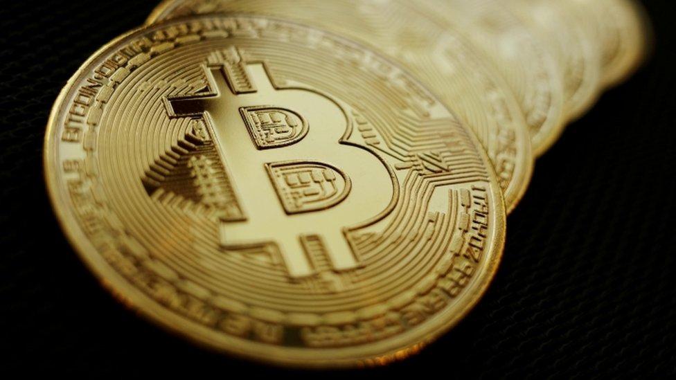 Physical Bitcoin token.