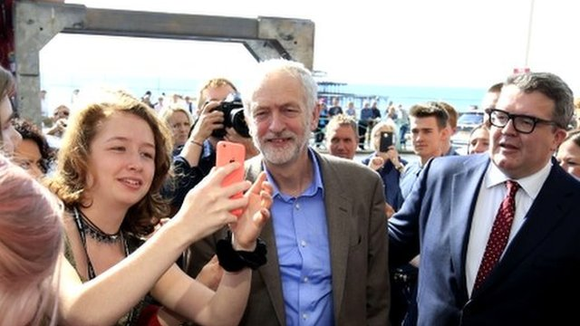 Jeremy Corbyn and Tom Watson arrive at Labour conference in Brighton
