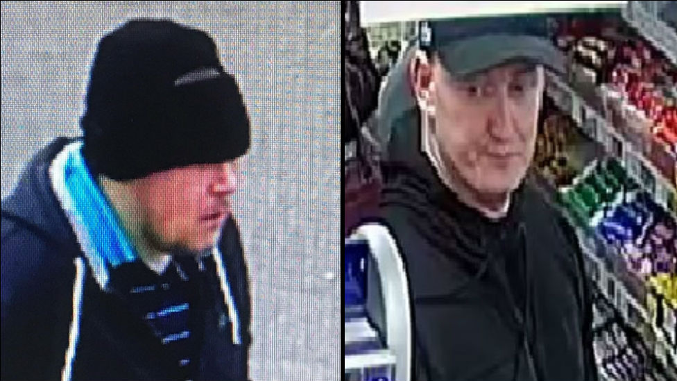 CCTV images released after two raids on Motherwell shops