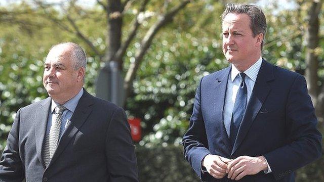 Brendan Barber and David Cameron