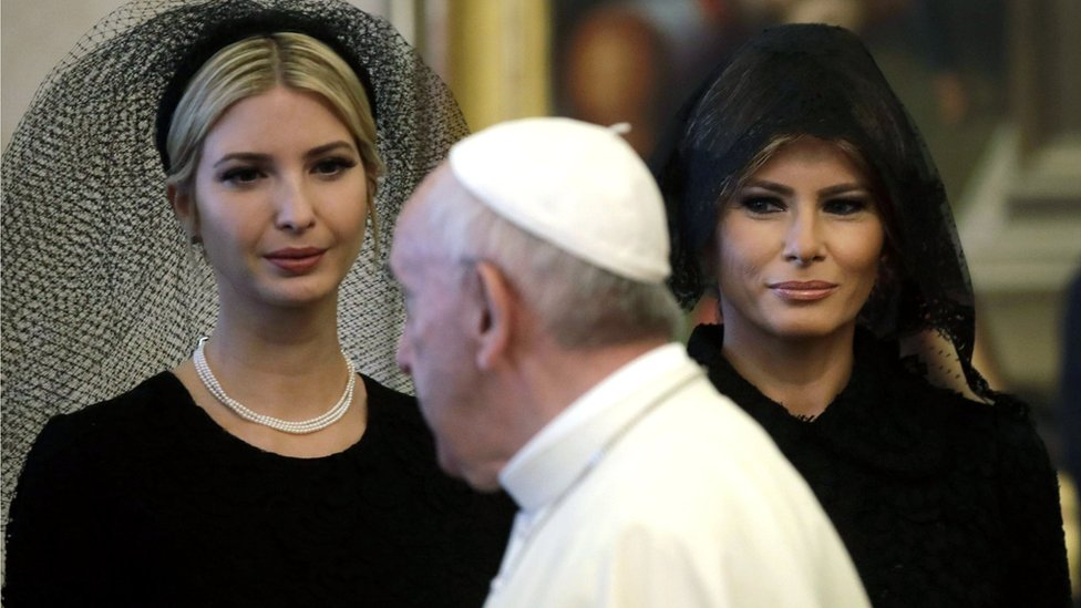 Ivanka and Melania Trump at the Vatican