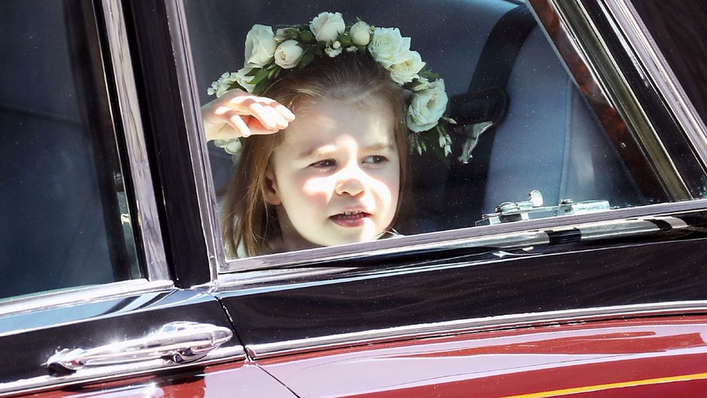 Royal wedding 2018: Princess Charlotte and Prince George arrive