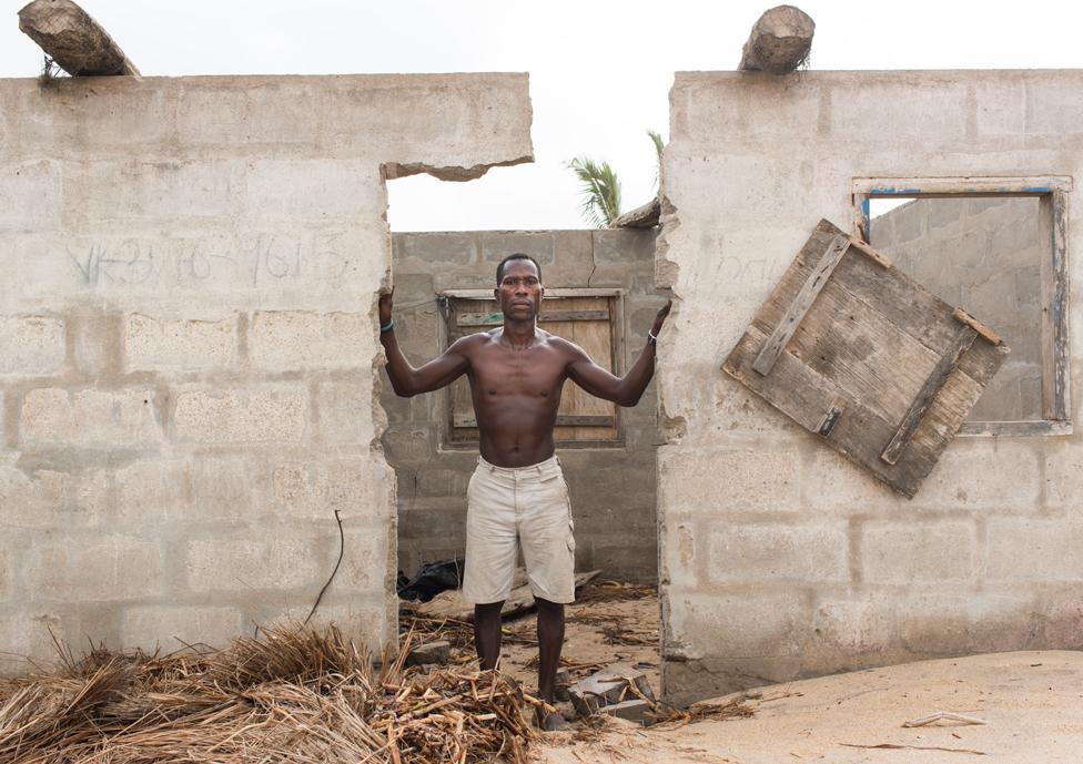 A resident of Fuvemeh, Ghana.