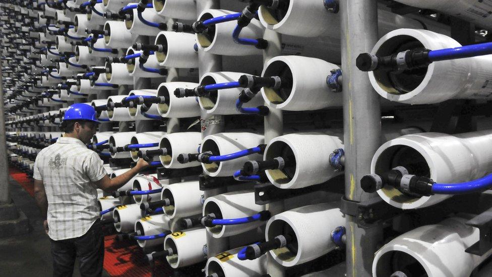 Desalination: reverse osmosis filter