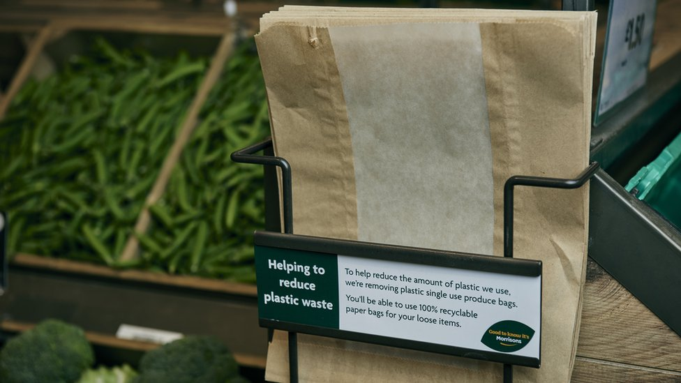 Morrisons brings back paper bags in latest fight against plastic