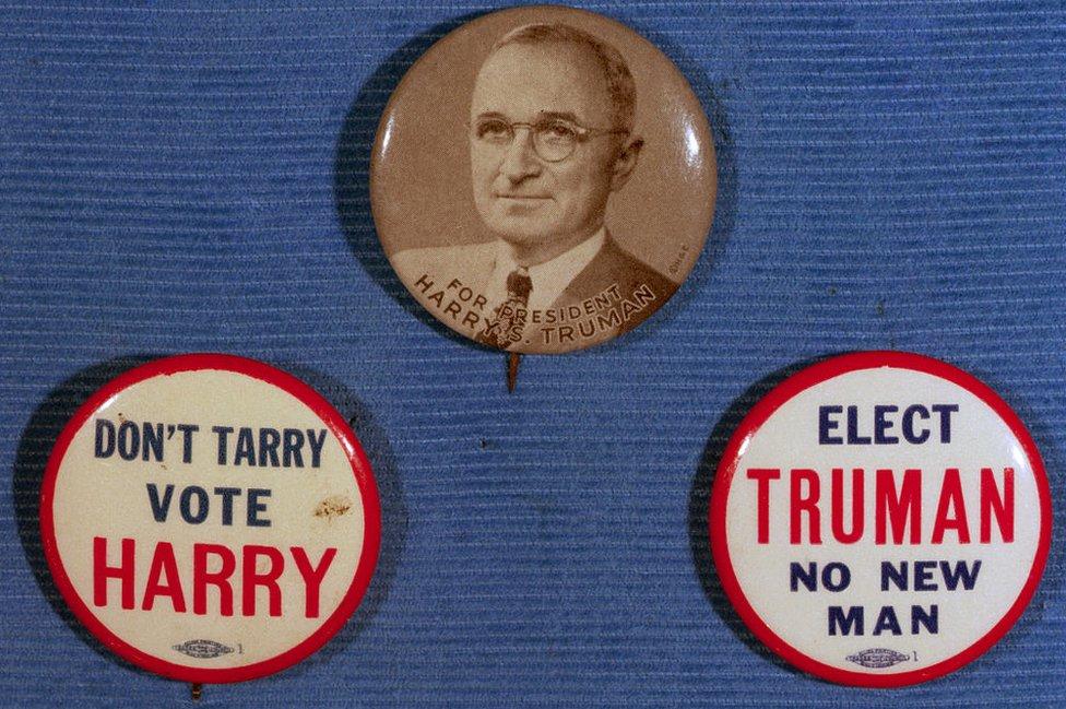 Botones de la campaña de Truman