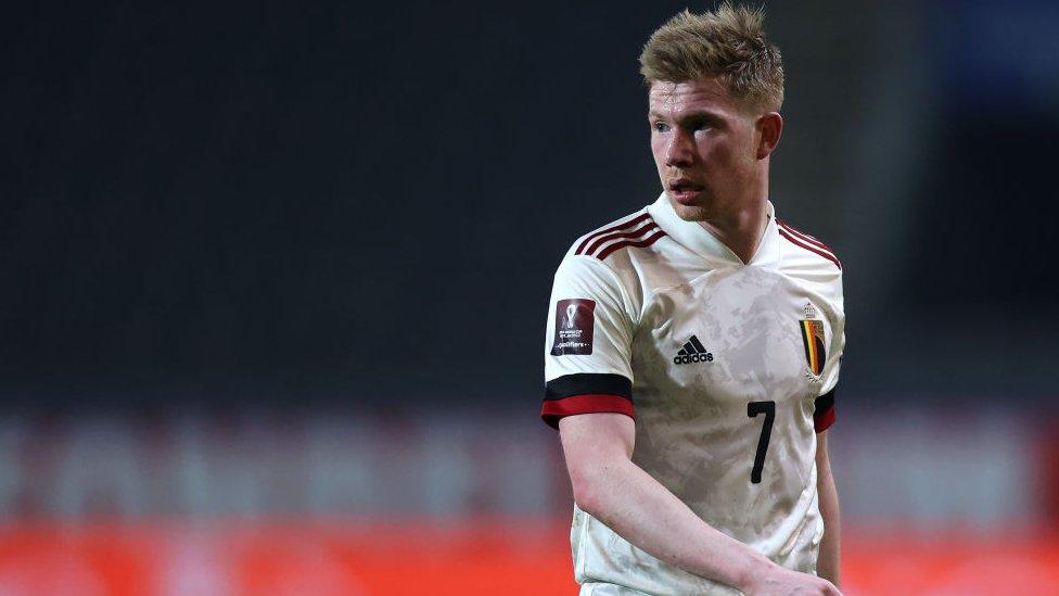El jugador belga Kevin De Bruyne.