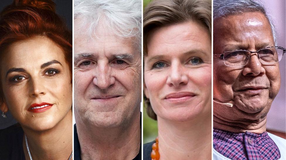 Isabel Behncke, Juan Luis Arsuaga, Mariana Mazzucato y Muhammad Yunus