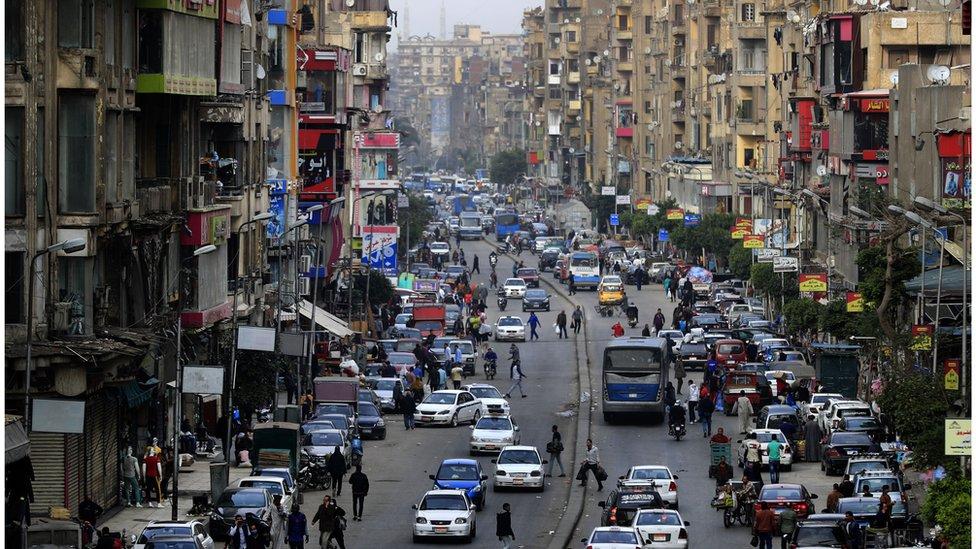 Una calle de El Cairo.