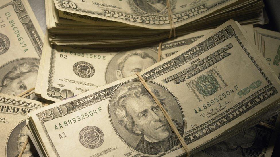 piles of US dollars