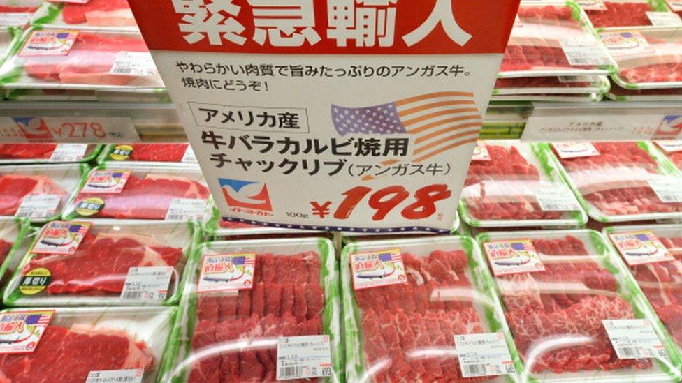 日本超市中的美國牛肉