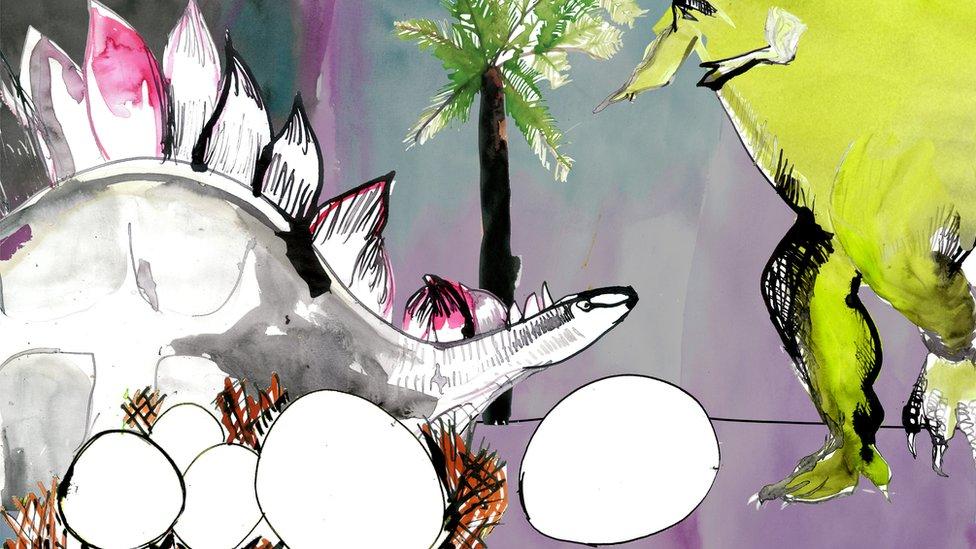 Ilustracija dinosaurusa