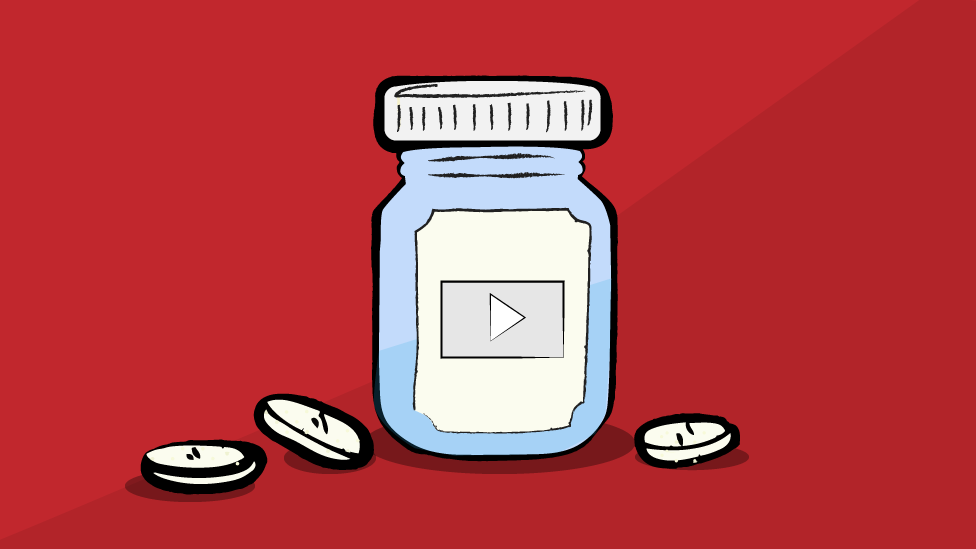 medicine bottle with YouTube logo