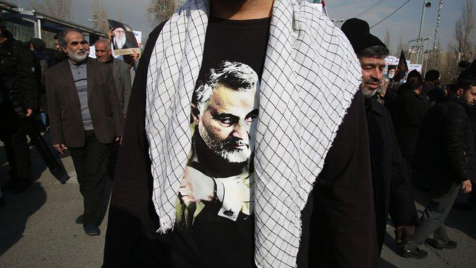 Camiseta con la cara estampada de Soleimani