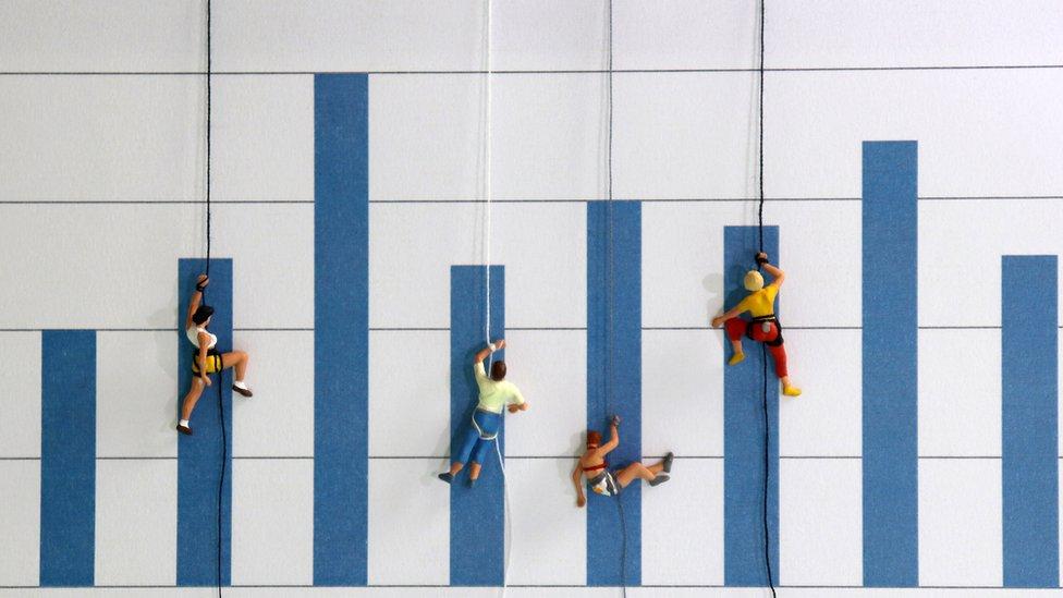 Escaladores en crisis.