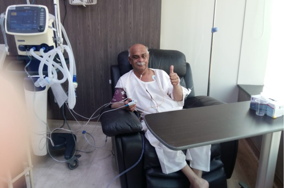 Justice Seth seen in an Islamabad hospital days before he died
