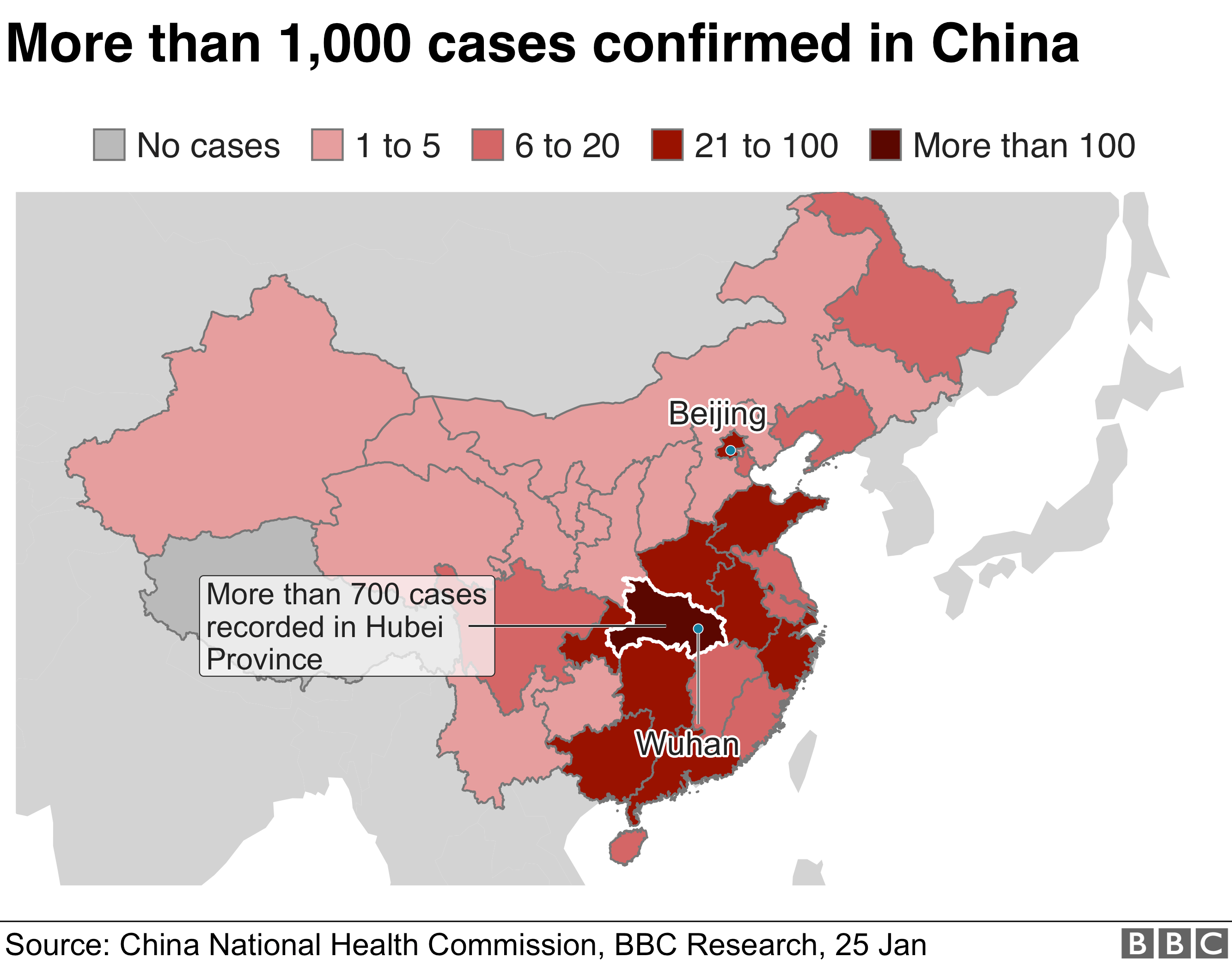 China Coronavirus Death Toll Rises As Disease Spreads Bbc News